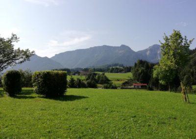 Abschalten im Garten / Ausblick auf den Rauschberg