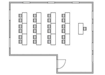 Seminarraum 2 Grundriss